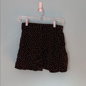 Pacsun la hearts dotted button front skirt